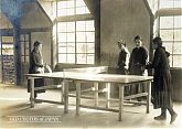 Japanese School Girls Playing Table Tennis