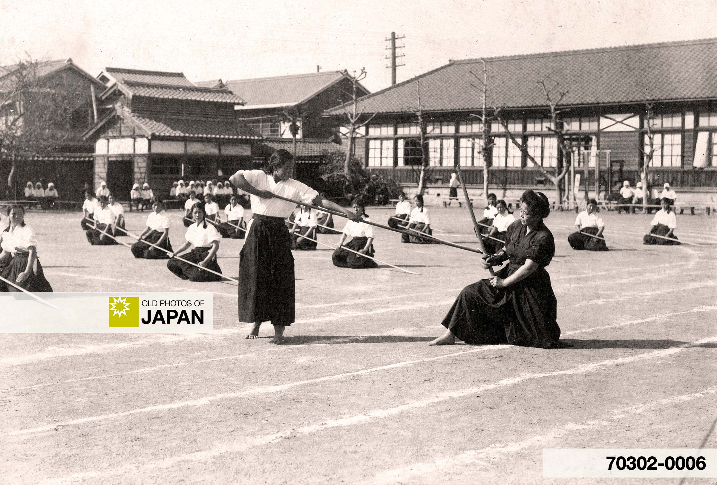 Japanese School Girls Doing Martial Arts