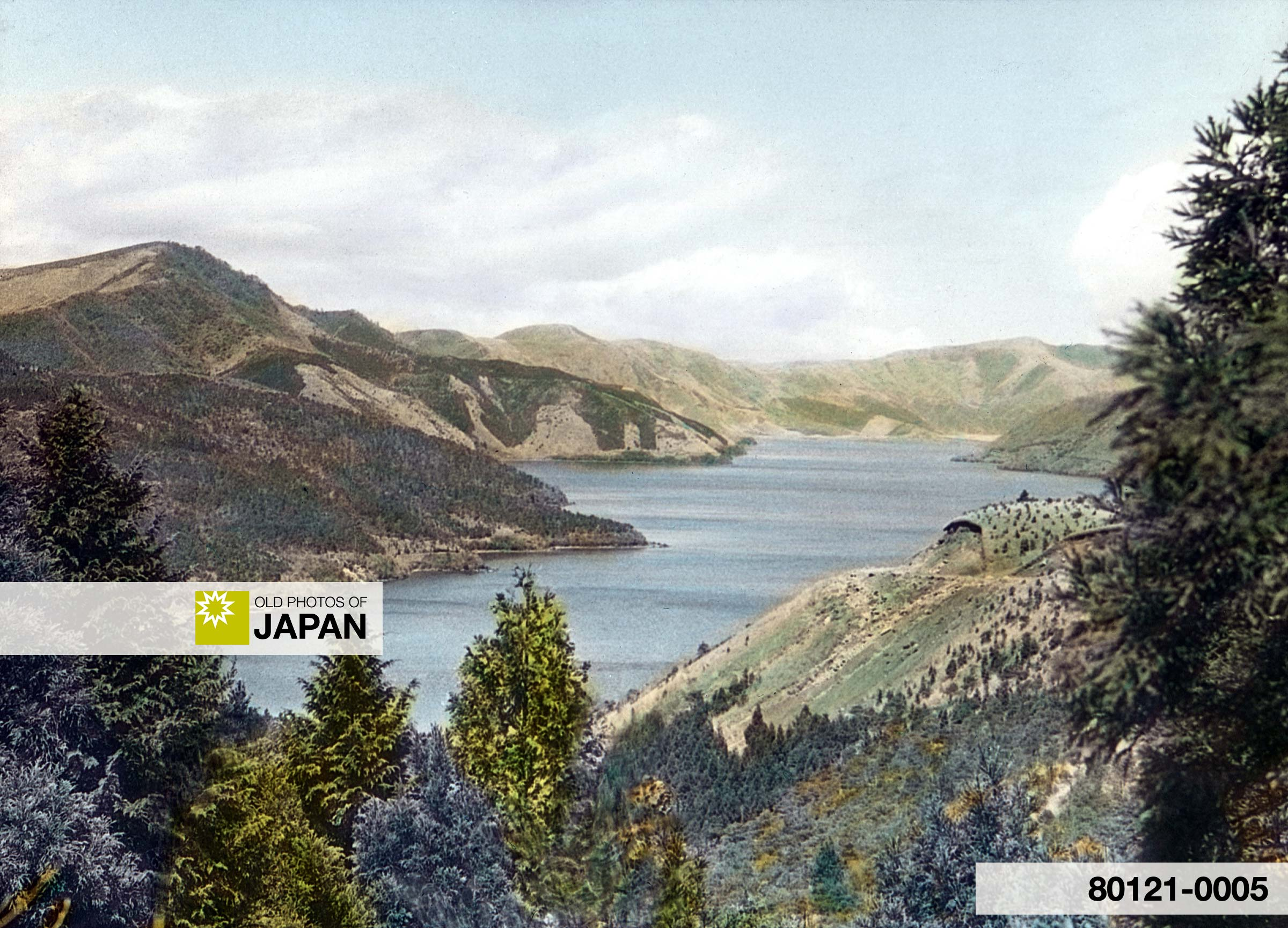 Japan. Hakone Lake, Surrounded by Volcanic Mountains (1932)