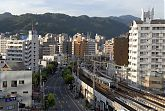 View on the JR Kobe Line in Kobe, Hyogo