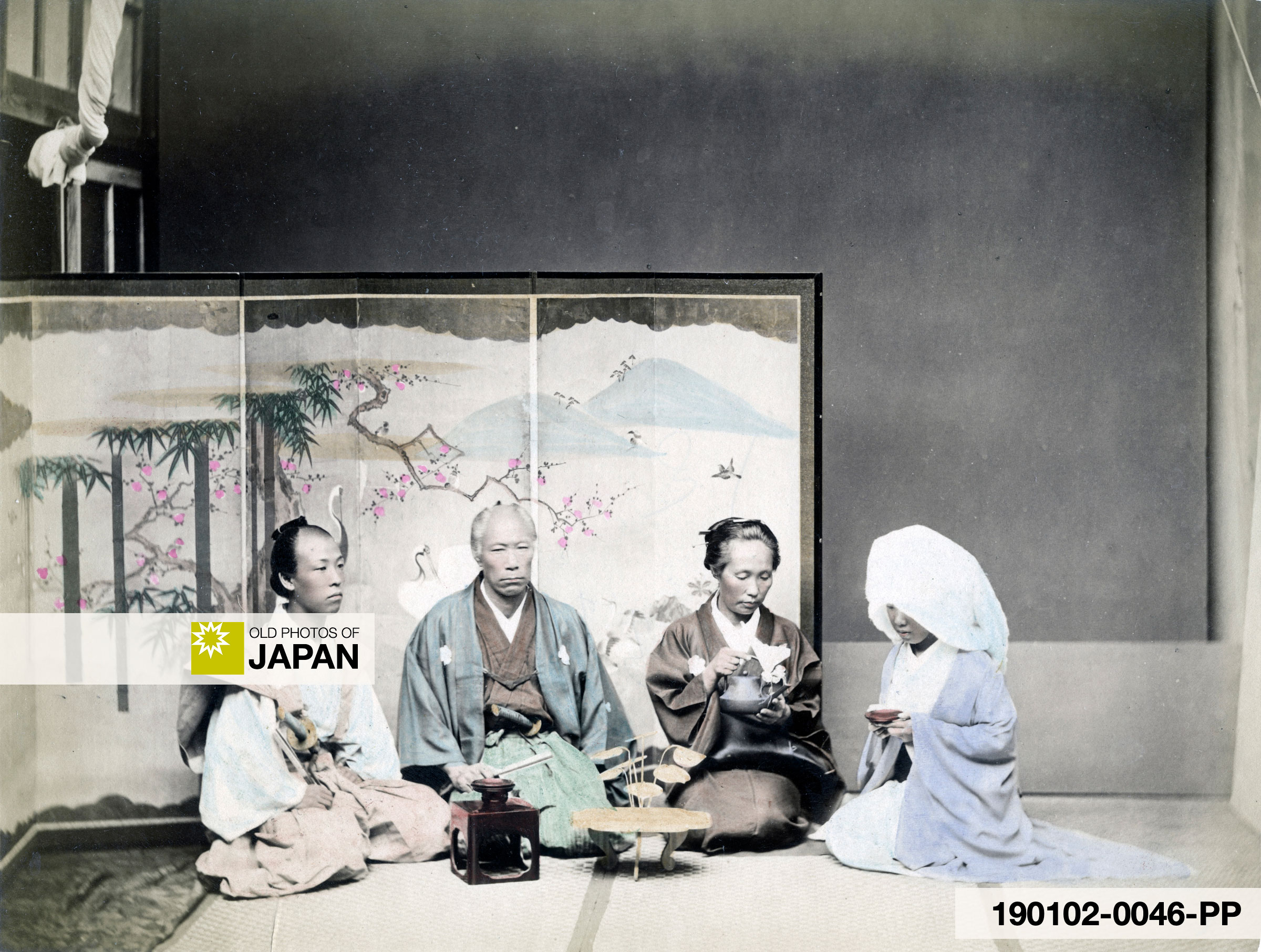 Late 19th century Japanese marriage ritual