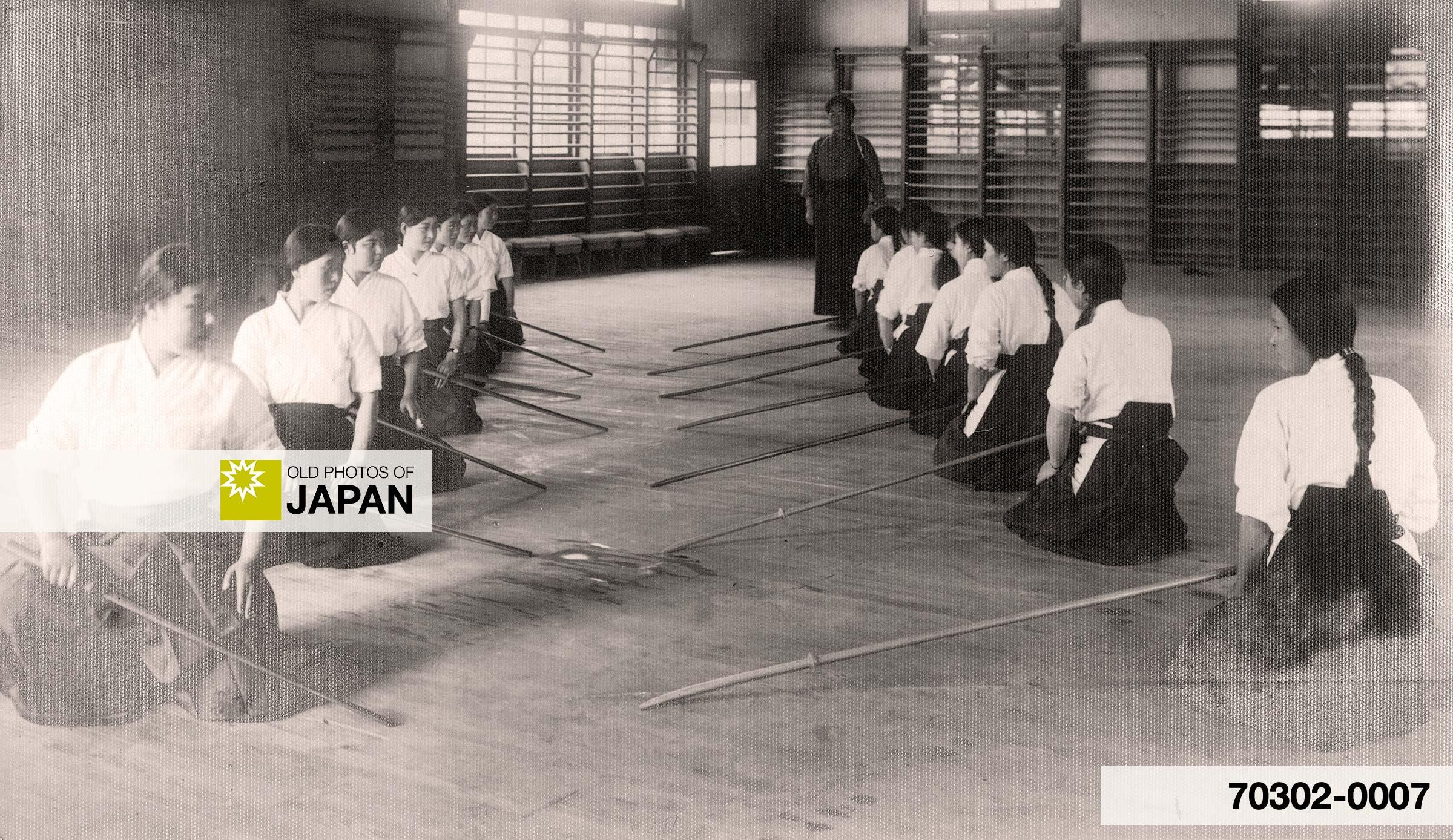 Japanese School Girls Doing Martial Arts