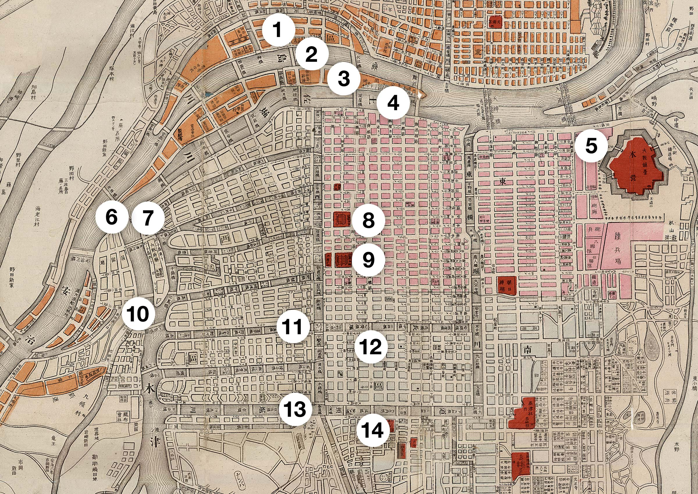 Osaka West Map 1877