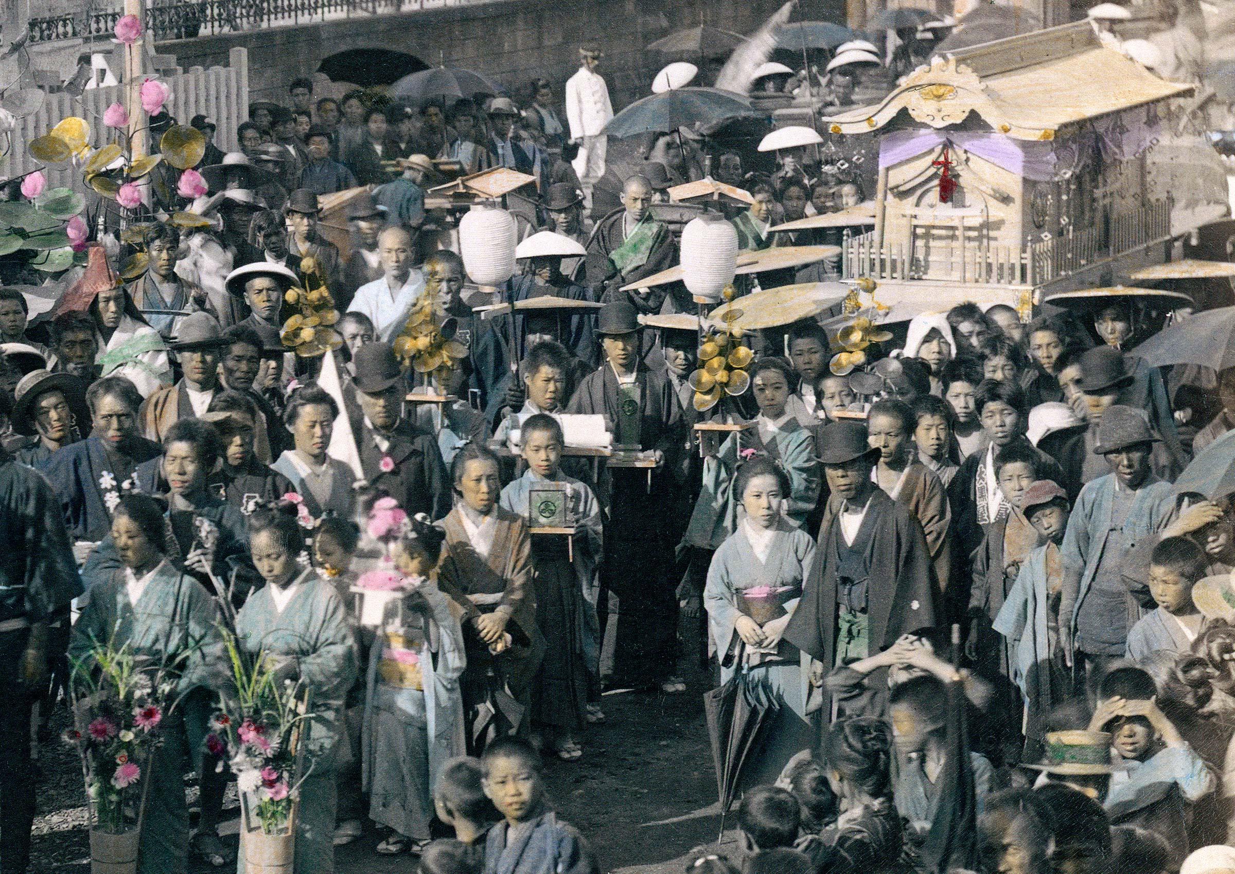 Detail of Meiji Funeral