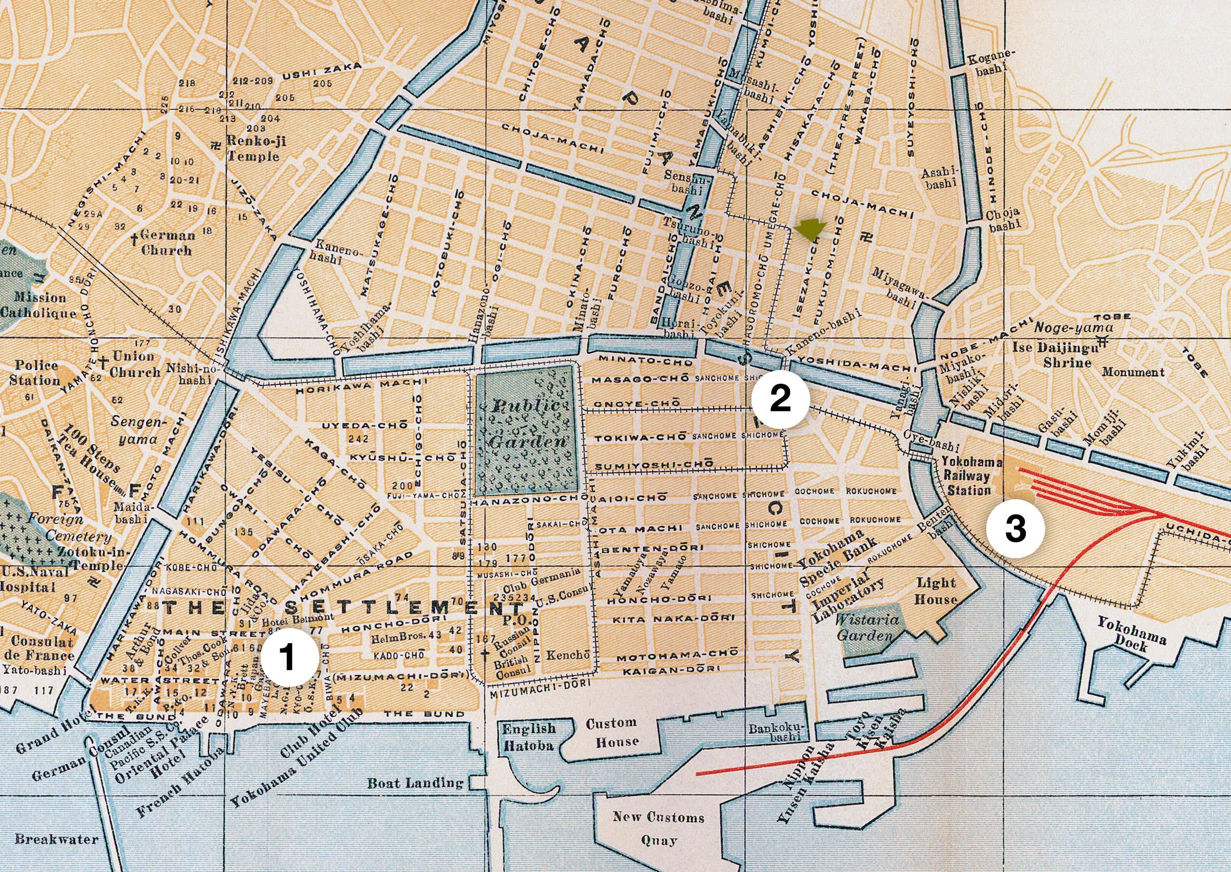Yokohama Map 1920