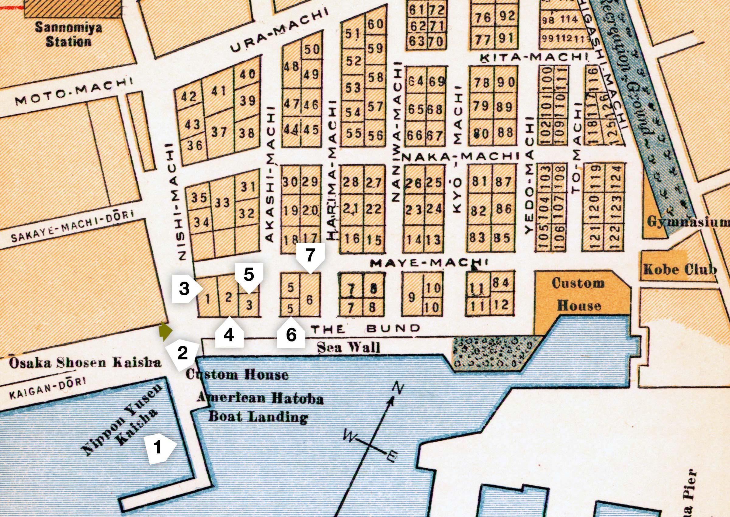 Map of Kobe 1937