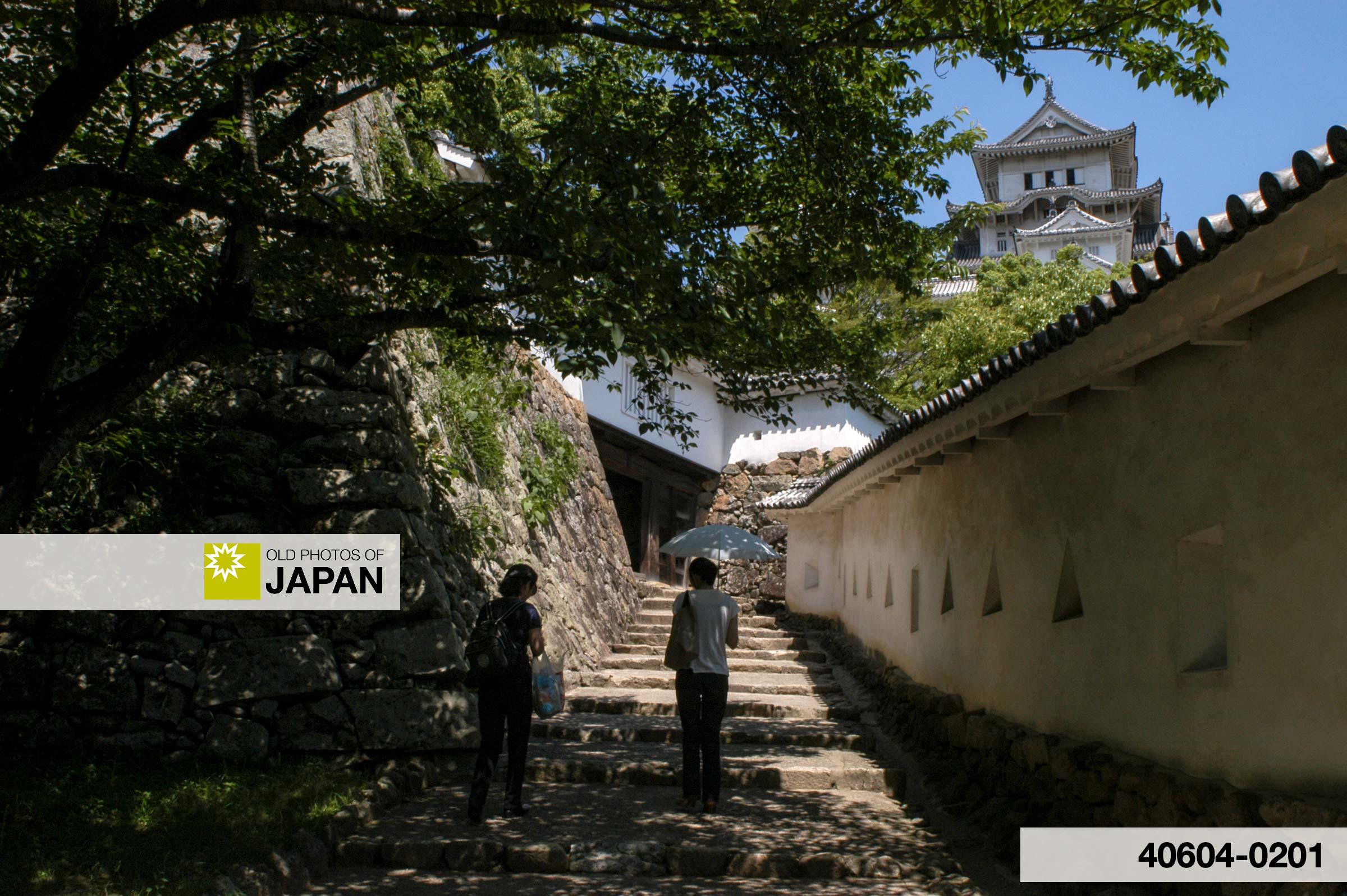 A passage inside Himeji Castle