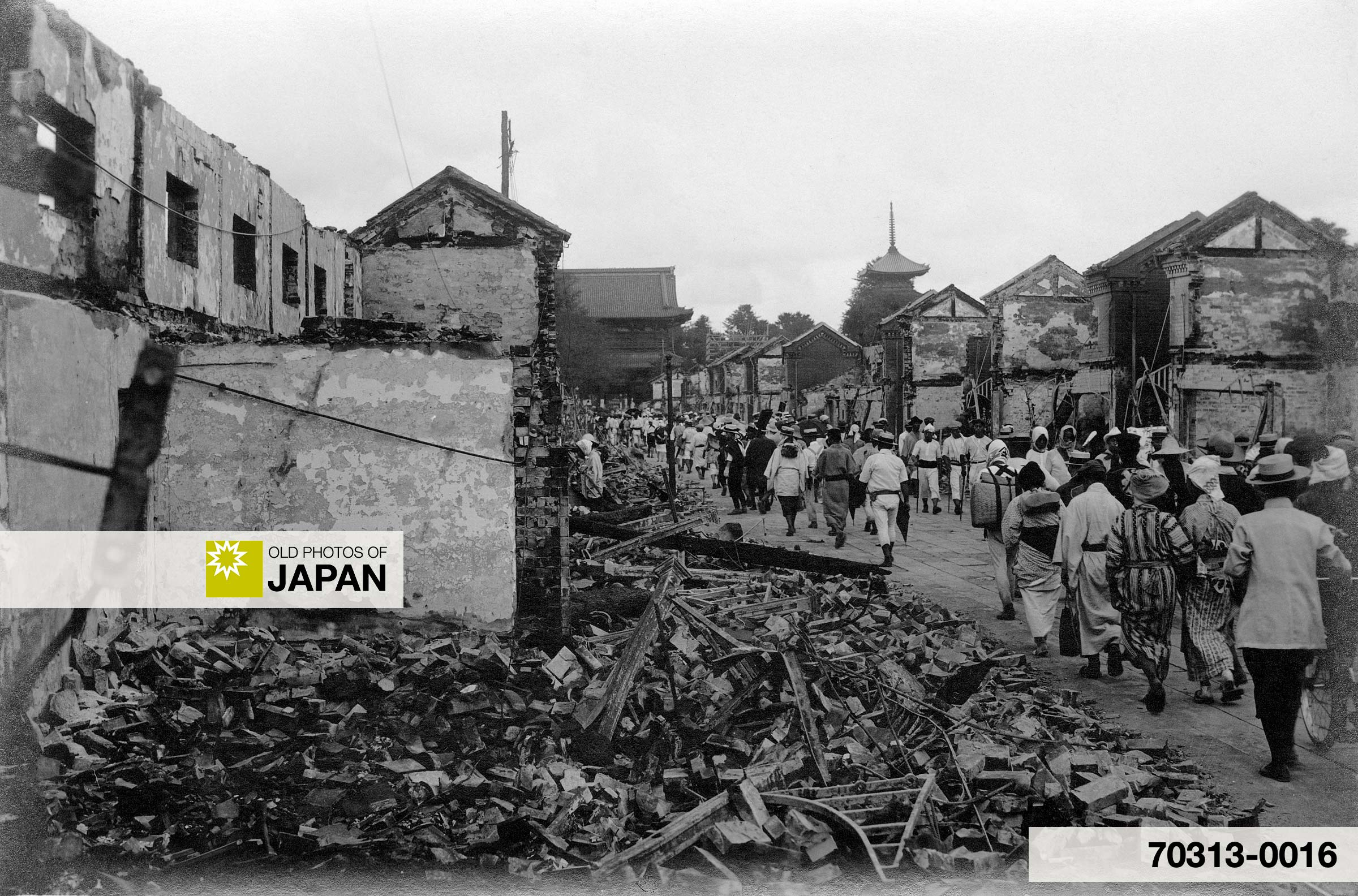 Asakusa Nakamise after the Great Kanto Earthquake