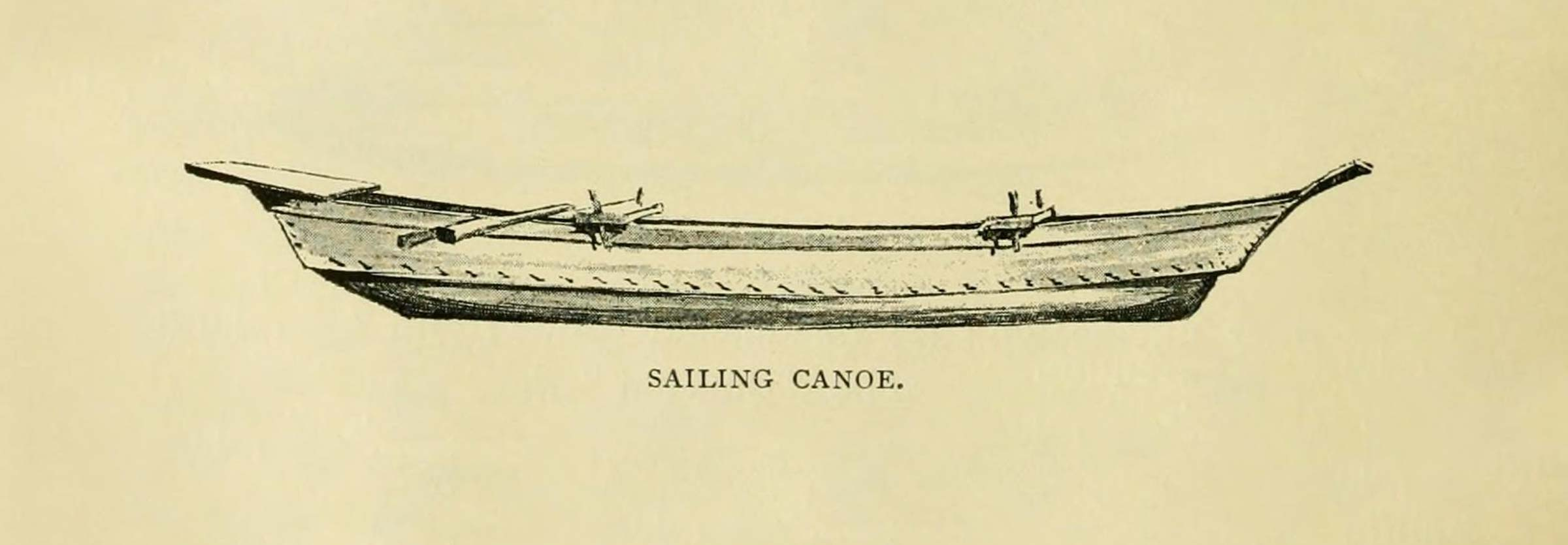 Ainu Sailing Canoe