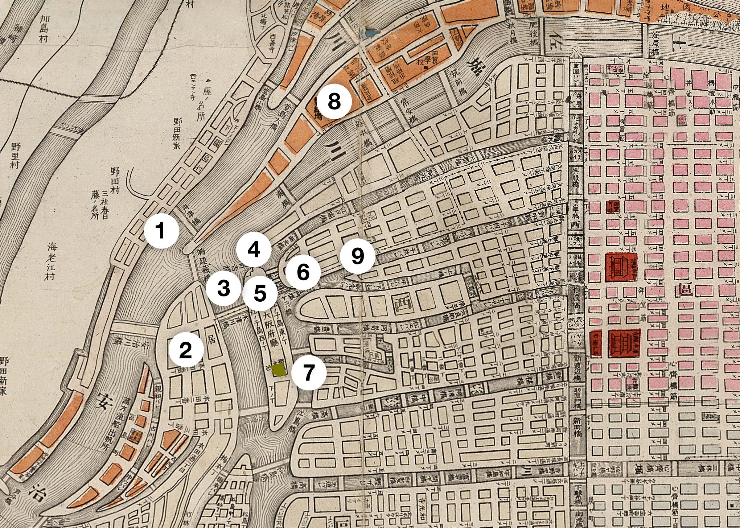 1889 Map of Osaka