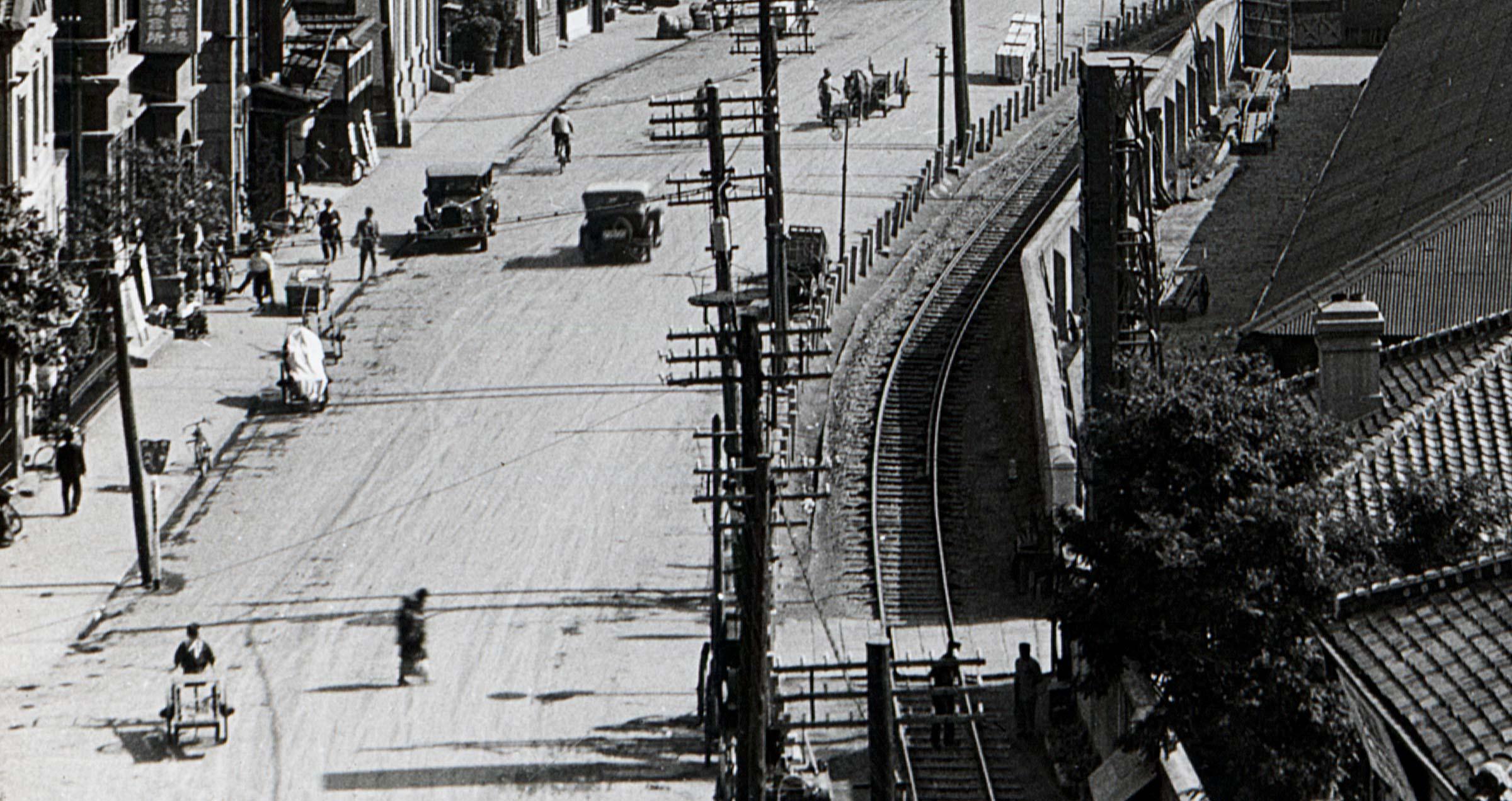 Transport on Kobe Bund, 1930