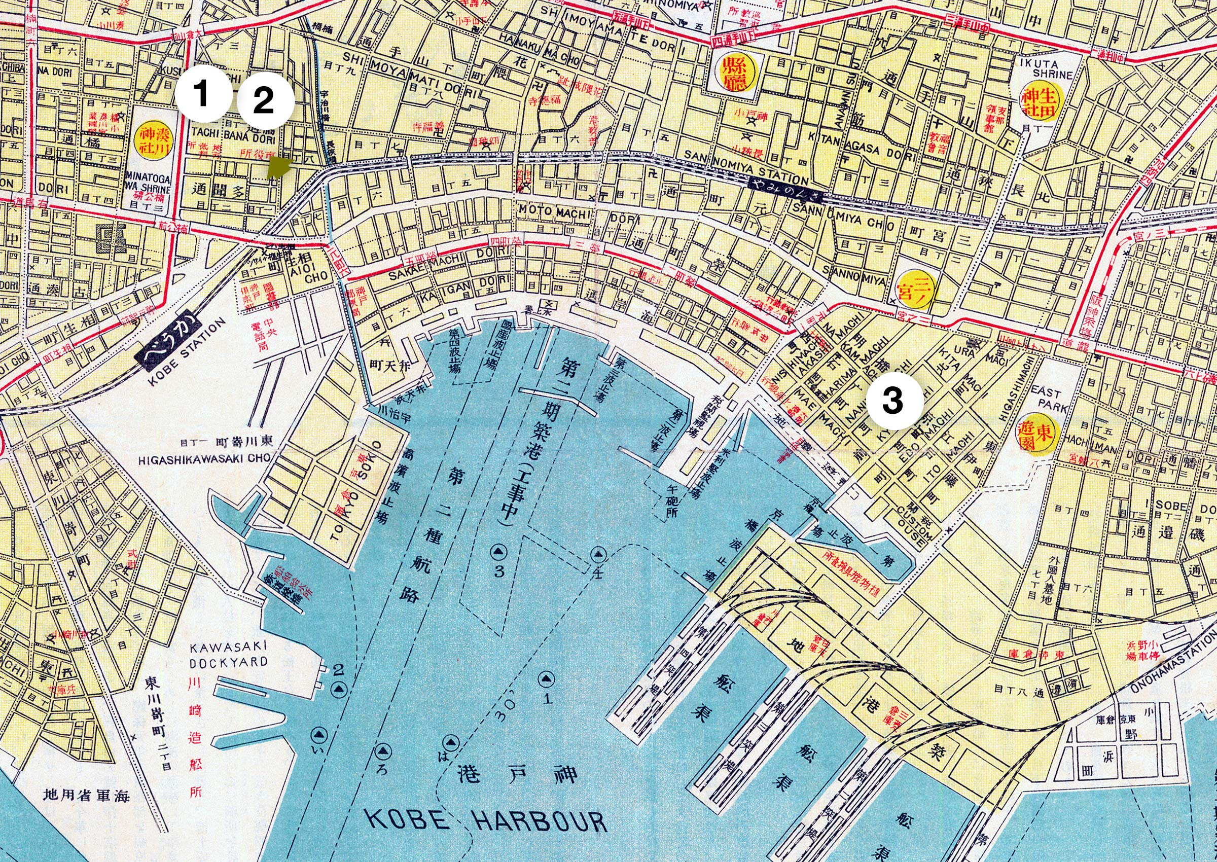 1929 Map of Kobe (70509-0003)
