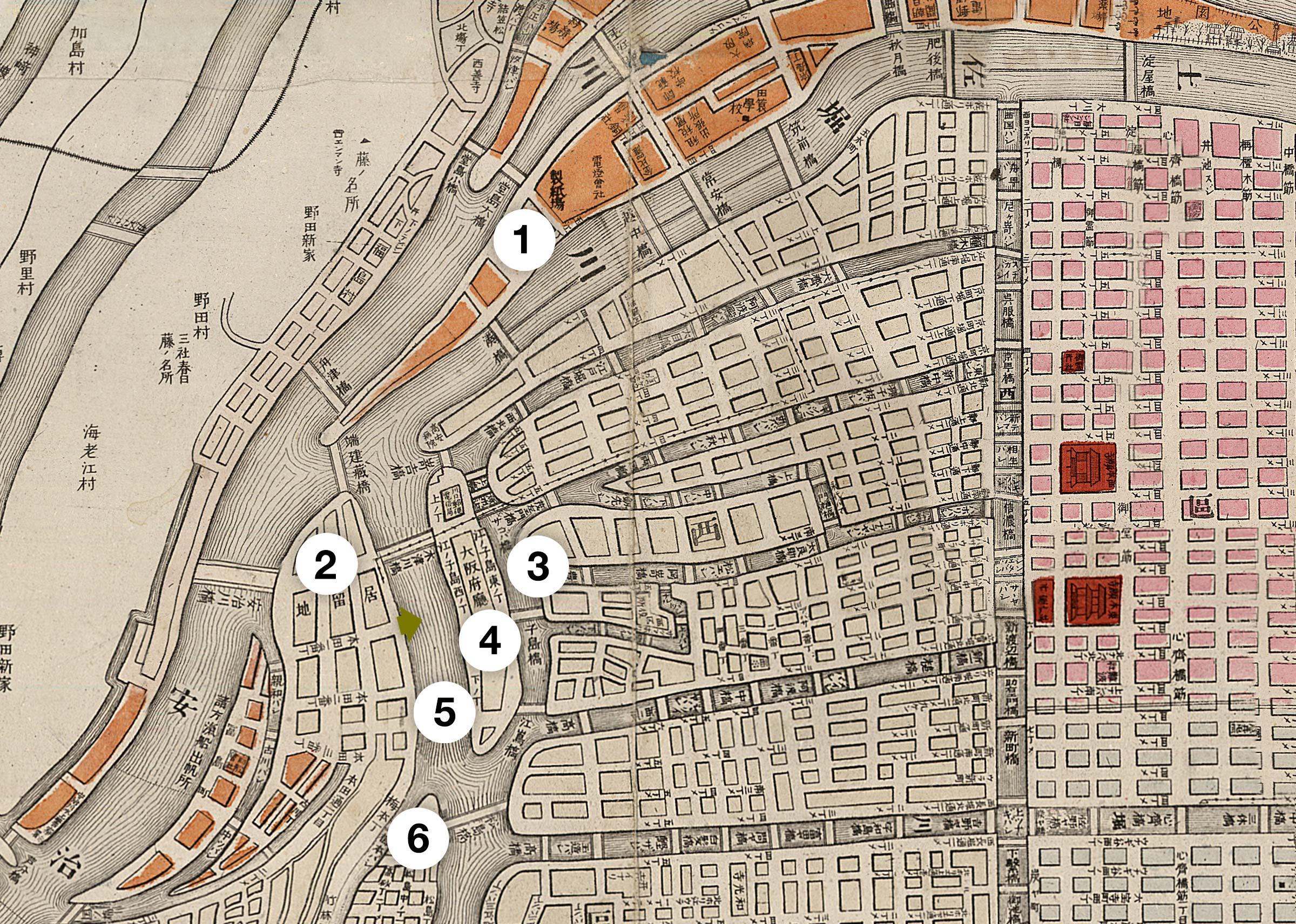 Osaka Map 1893