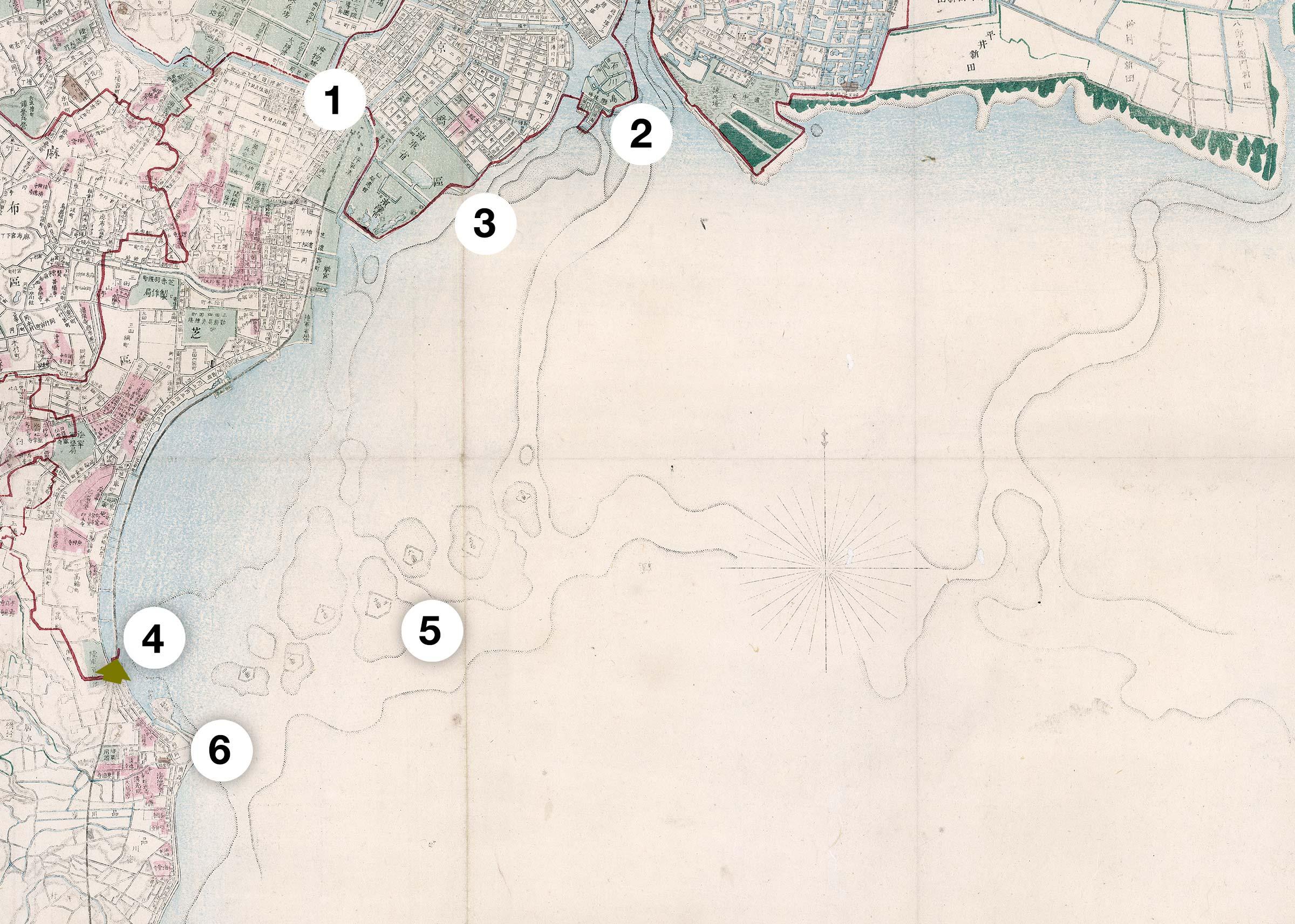 80115-0049 - Shinagawa Map
