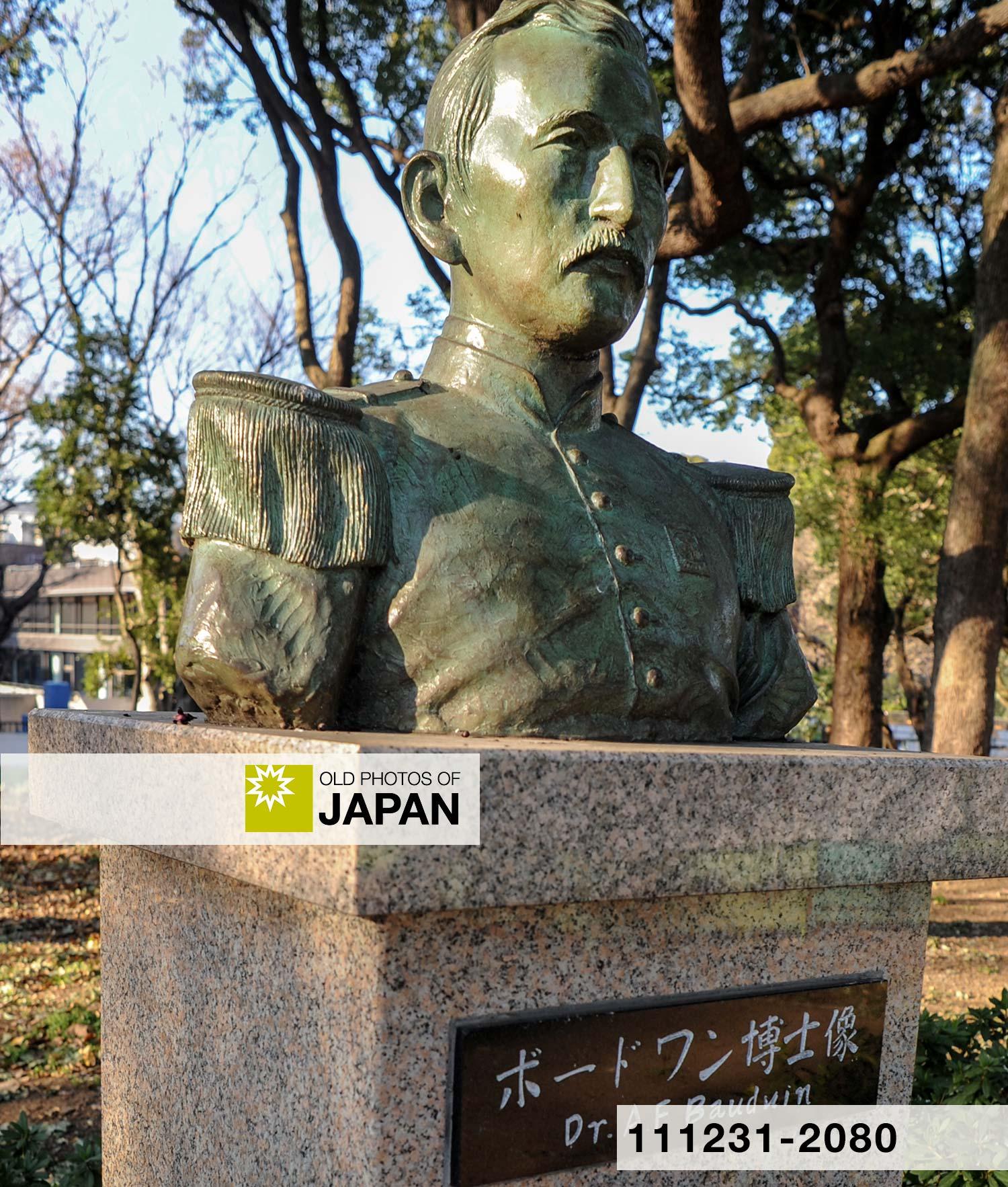 上野公園のアントニウス・フランシスクス・ボードウィンの像