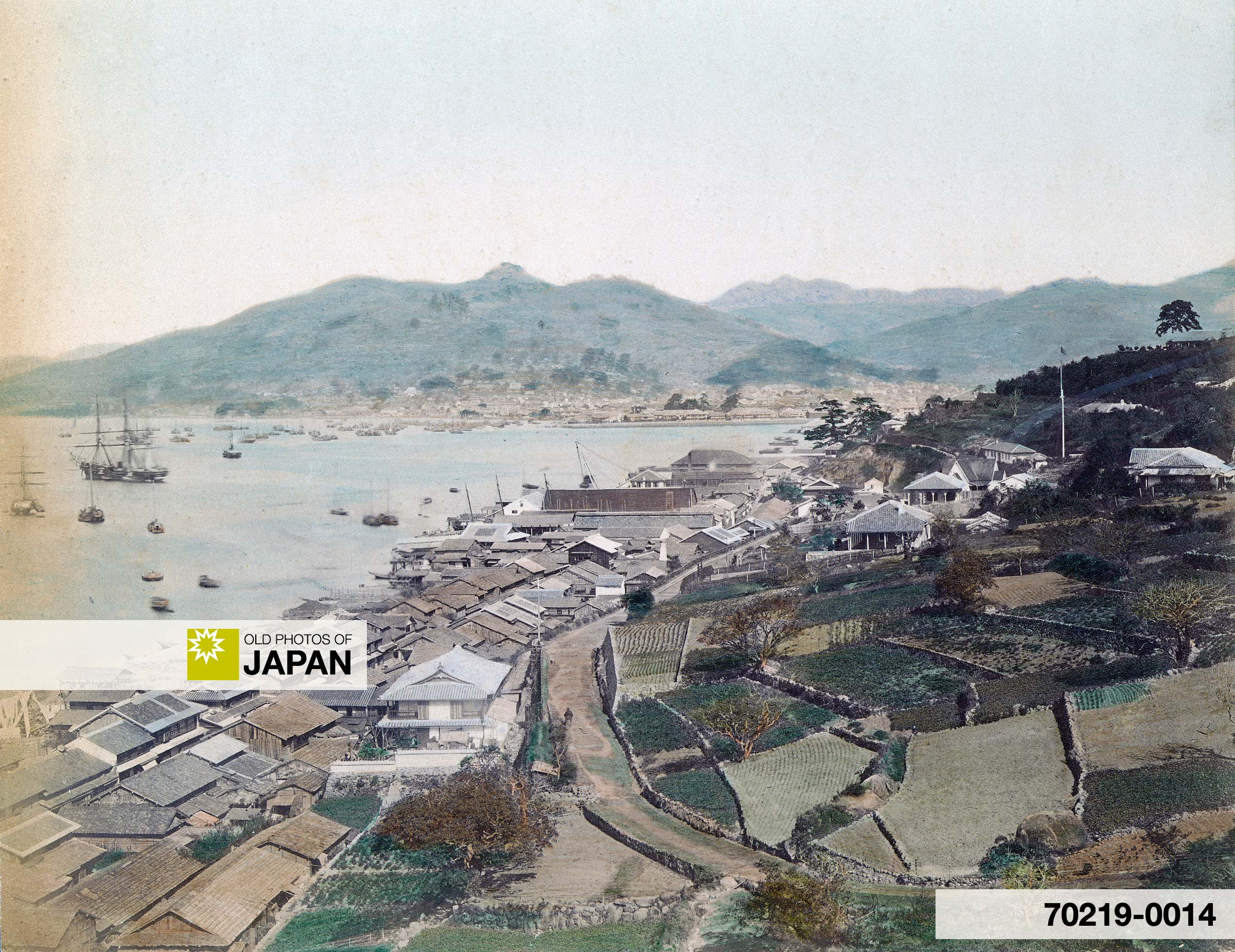 View on Oura and Nagasaki Harbor